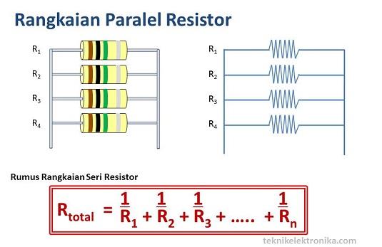Rumus dan Rangkaian Paralel Resistor