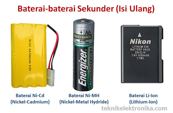 Jenis-jenis Baterai Sekunder