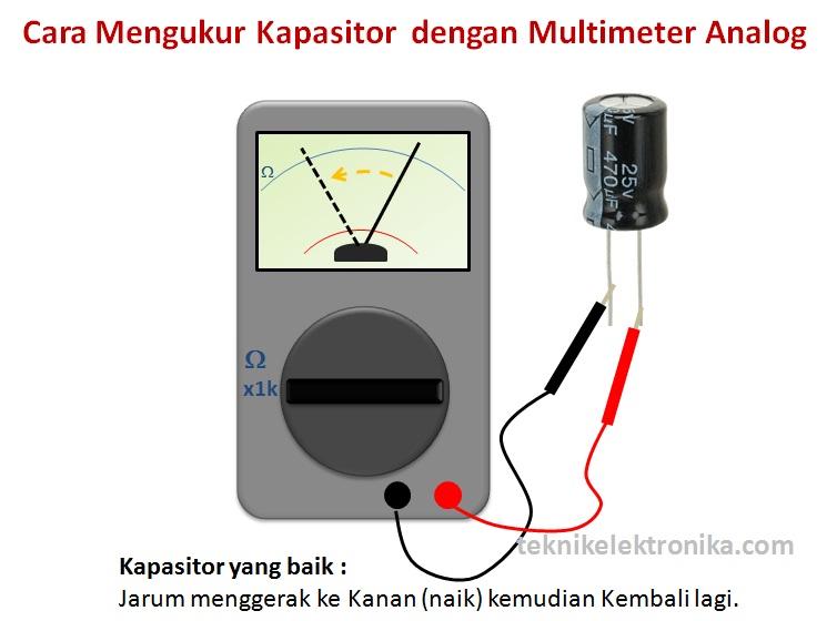 Cara Menguji Kapasitor dengan Multimeter Analog