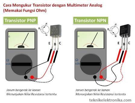 Cara mengukur Transistor dengan Multimeter Analog