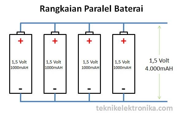 Rangkaian Paralel Baterai