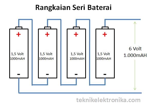 Rangkaian Seri Dan Paralel Baterai Battery
