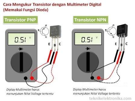 Cara Mengukur Transistor dengan Multimeter Digital