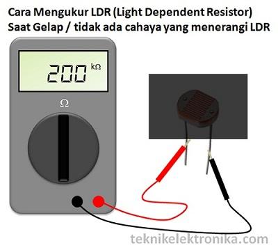 Cara Mengukur LDR (Light Dependent Resistor) saat gelap
