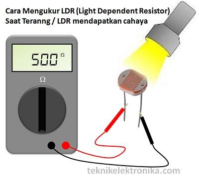 Cara Mengukur LDR (Light Dependent Resistor) saat terang