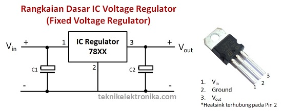 Rangkaian IC Fixed Voltage Regulator