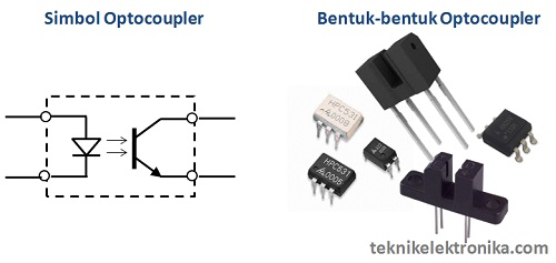 Simbol Optocoupler dan Bentuk Optocoupler