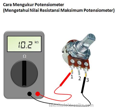 Cara mengukur Potensiometer (mengetahui nilai resistansi maksimum)