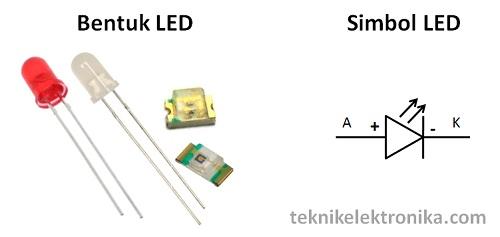 Bentuk dan Simbol LED (Light Emitting Diode)