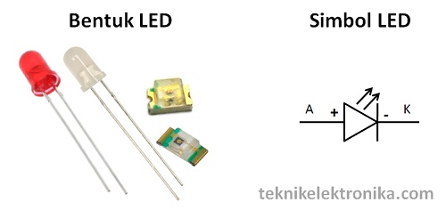 Bentuk dan Simbol LED (Light Emitting Diode)