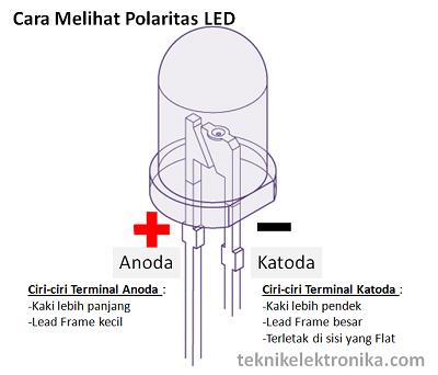 Cara mengetahui polaritas LED