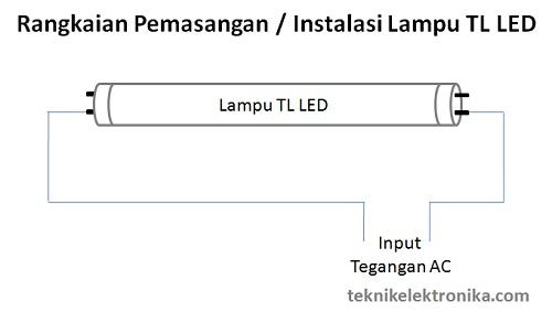 Rangkaian Lampu TL LED