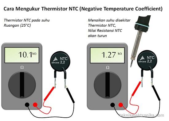 Cara Mengukur Thermistor NTC