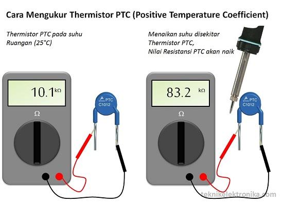 Cara Mengukur Thermistor PTC