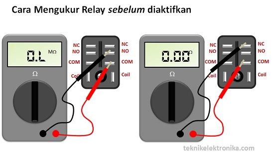 Cara Mengukur Relay dengan Multimeter sebelum relay diaktifkan