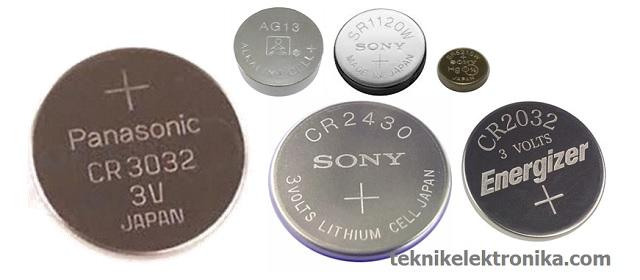 Jenis-jenis Baterai Kancing
