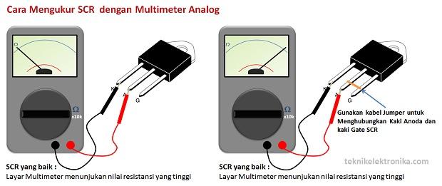Cara Mengukur SCR dengan Multimeter