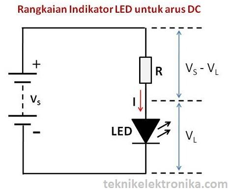 Cara Menghitung Nilai Resistor untuk LED