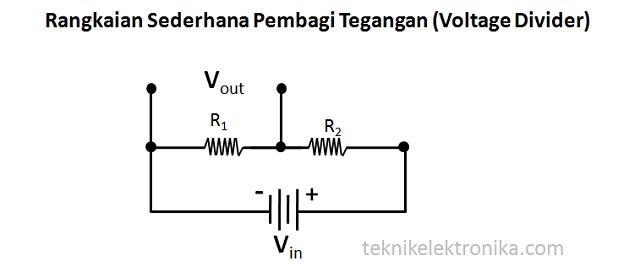 Rumus dan Rangkaian Pembagi Tegangan (Voltage Divider)
