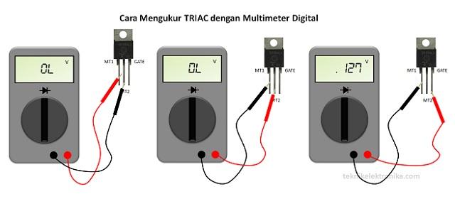 Cara Menguji atau Mengukur TRIAC dengan Multimeter Digital