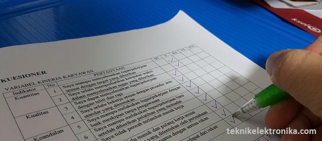 Cara Uji Validitas Kuesioner Dengan Microsoft Excel Teknik Elektronika