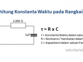 Cara Menghitung Konstanta Waktu Rangkaian RC