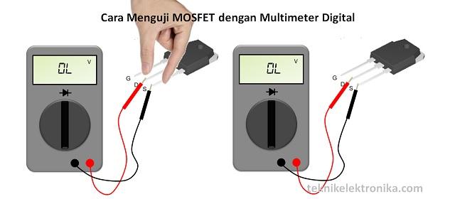 Cara Menguji MOSFET dengan digital Multimeter