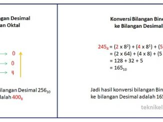 Cara Konversi Bilangan Desimal ke Bilangan Oktal dan Oktal ke Desimal