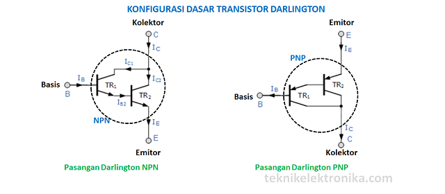 Pengertian Transistor Darling dan Konfigurasi Transistor Darlington