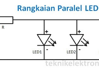 Cara Merangkai Lampu LED (Rangkaian Paralel LED)