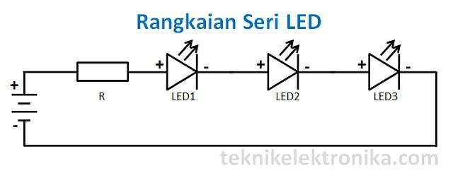 Cara Merangkai Lampu LED (Rangkaian Seri LED)