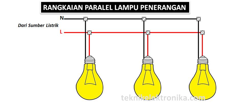 Rangkaian Lampu Penerangan Paralel