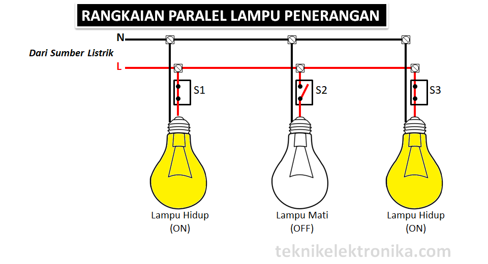 Rangkaian Paralel Lampu Penerangan