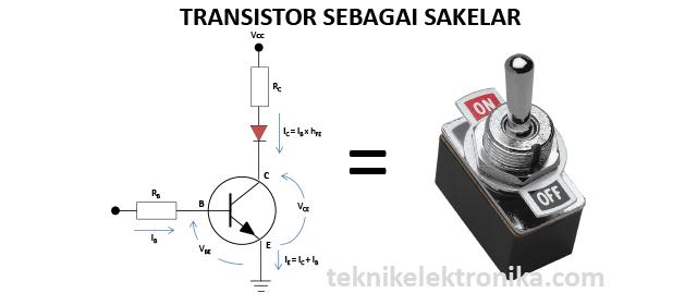 FUNGSI TRANSISTOR SEBAGAI SAKELAR (switch)