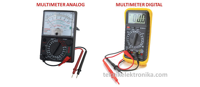 Pengertian dan Perbedaan Multimeter Analag dan Multimeter Digital